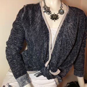 Chico's Shimmer Sweater Covering/Jacket